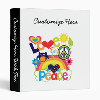 Love and Peace Baby 3 Ring Binders