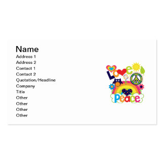 Love and Peace Baby Business Card
