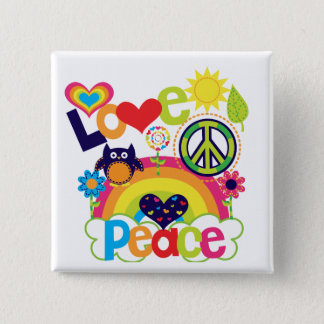 Love and Peace Baby Button
