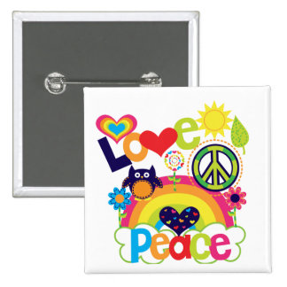 Love and Peace Baby Buttons