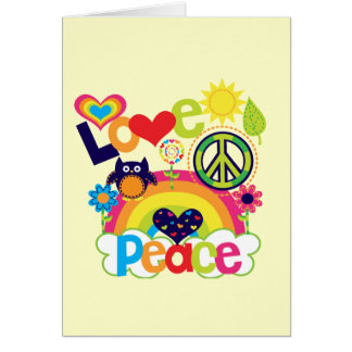Love and Peace Baby Card