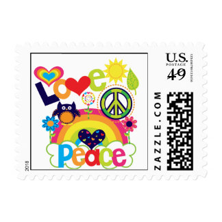 Love and Peace Baby Postage Stamp