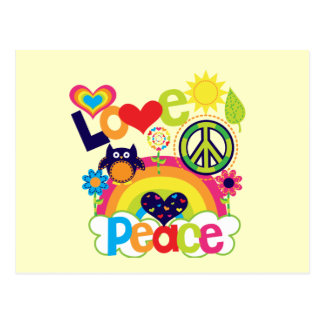Love and Peace Baby Postcard