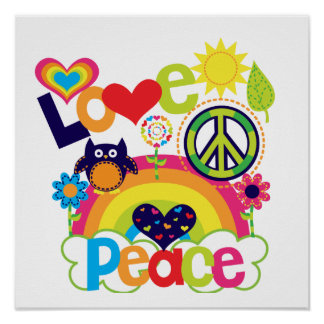 Love and Peace Baby Posters