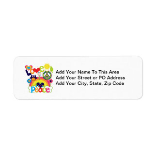 Love and Peace Baby Return Address Label