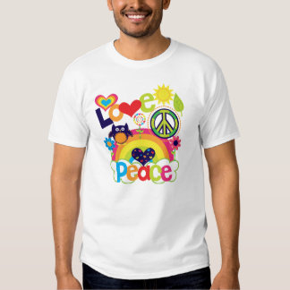 Love and Peace Baby T Shirt