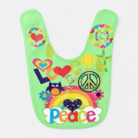 Love and Peace Bib