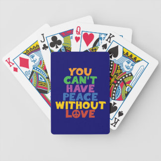Love and Peace Bicycle Playing Cards