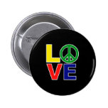 love and peace buttons