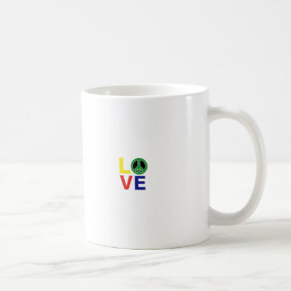love and peace coffee mug
