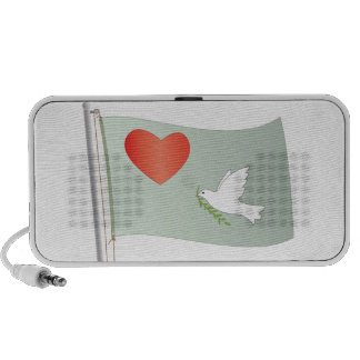 love and peace flag PC speakers