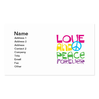 Love and Peace Forever.png Double-Sided Standard Business Cards (Pack Of 100)