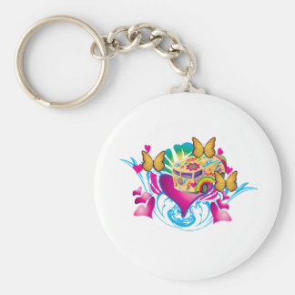 Love And Peace Keychain