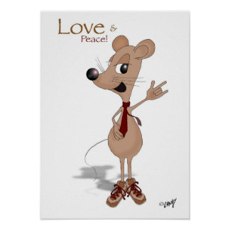 Love and peace mouse! poster