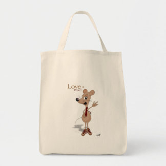 Love and peace mouse! tote bag