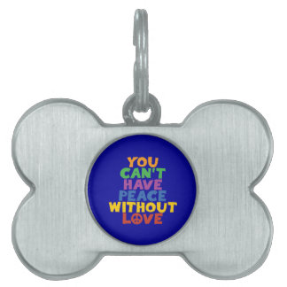 Love and Peace Pet Tag