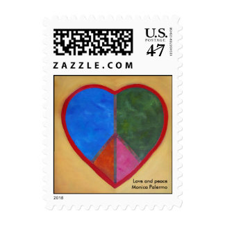 Love and peace postage
