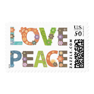 Love and Peace Postage Stamp