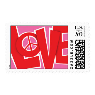 Love and Peace Postage Stamps
