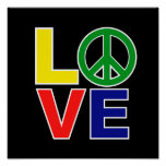 love and peace print