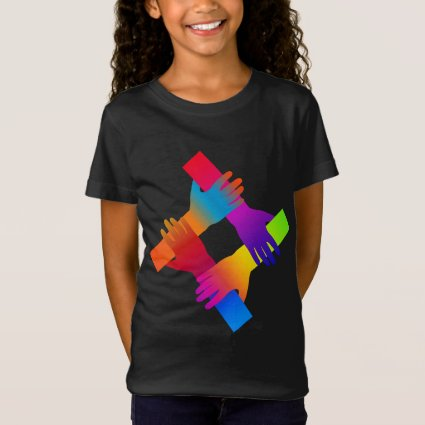 Love and Peace Rainbow Kids Shirt