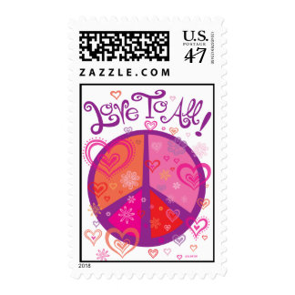 Love and Peace Sign Postage Stamp