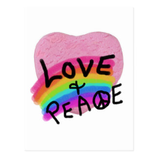 Love and Peace Valentine Tshirts and Gifts Postcard