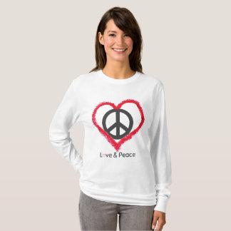 Love And Peace Women's Basic Long Sleeve T-Shirt