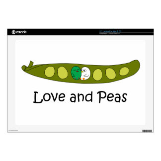 Love and Peas Laptop Decal