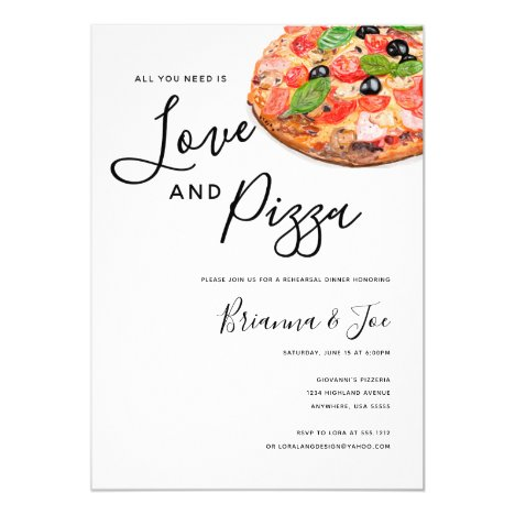Pizza Invitation