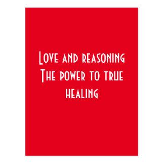 Love and reasoning postcard