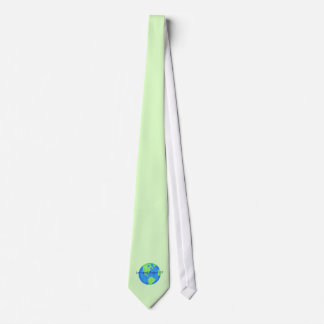 Love and Respect Earth Custom Green Earth Day Neck Tie