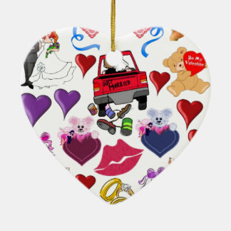 Love and Romance Ceramic Ornament