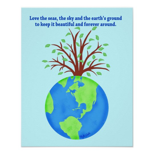 love and save the earth forever environment art poster zazzle com