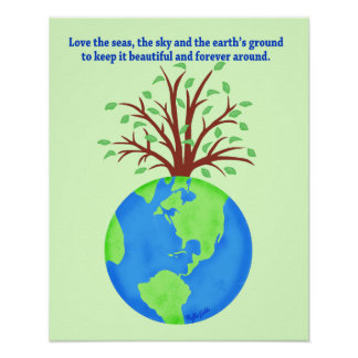 Love and Save the Earth Forever Environment Art Posters