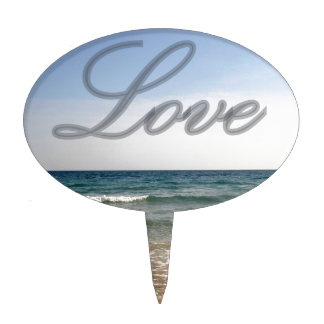 love and sea cake topper