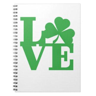 LOVE and Shamrocks Notebook