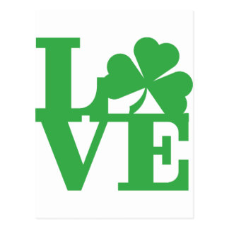 LOVE and Shamrocks Postcard