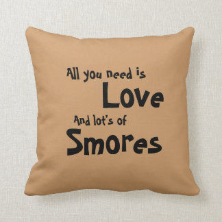 Love and Smores Throw Pillow