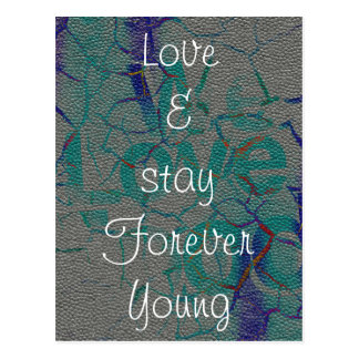Love and stay Forever Young Postcard