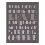 Love and Strong Coffee Poster