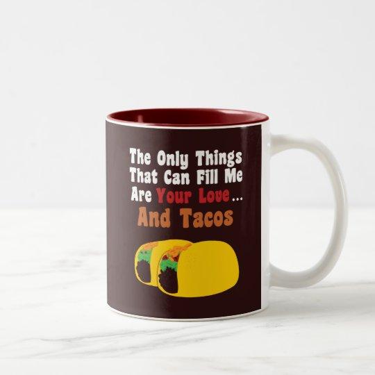 Love and Tacos Two-Tone Coffee Mug