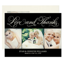 Love and Thanks | Black Wedding Thank You Card