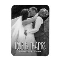 Love And Thanks Custom Wedding Thank You Photo Magnet