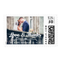 LOVE AND THANKS PHOTO THANK YOU POSTAGE STAMPS