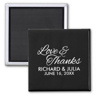 Love and Thanks Script | Wedding Favor Thank You Magnet