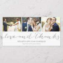 Love and Thanks Silver Script  | Wedding Thank You