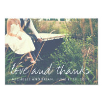 Love and Thanks Wedding Photo Thank You Card