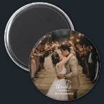 """Love and Thanks Wedding Photo Thank You Magnet<br><div class=""""desc"""">Love and thanks design wedding magnets, featuring your favorite wedding day photo. Show your gratitude to friends and family who share in your wedding celebration and give them a keepsake magnet they will cherish. Customize these wedding thank you magnets with your photo, and names. Contact me through the button below...</div>"""