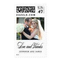 Love and Thanks   Wedding Photo Thank You Stamp